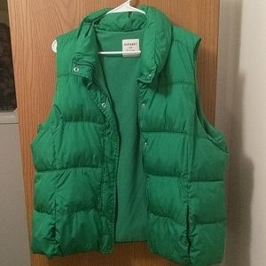 Green Old Navy Puffy Vest